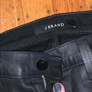 Leather coated JBRAND jeans